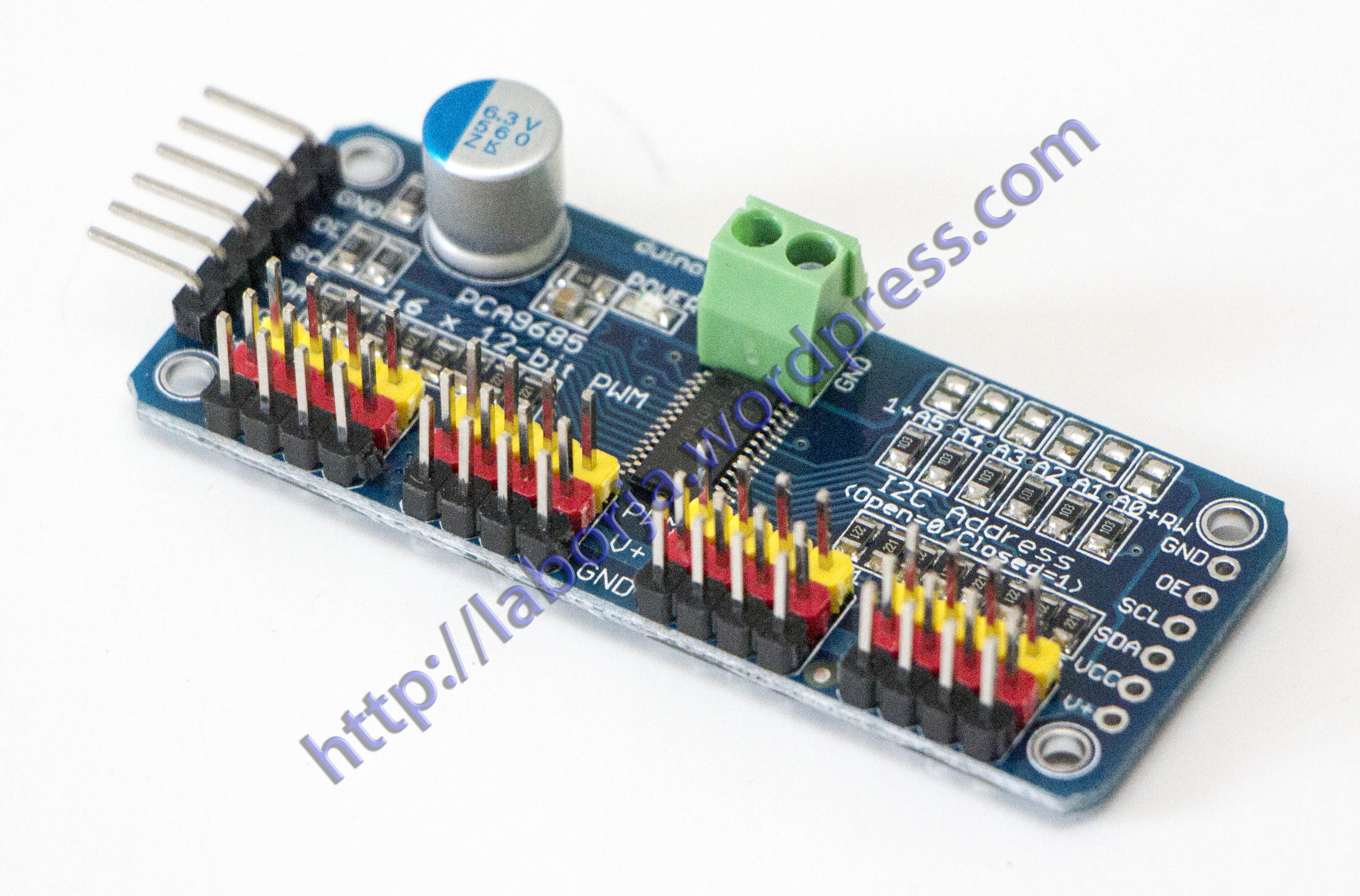 16 Channel Servo Driver I2c Interface on relay shield