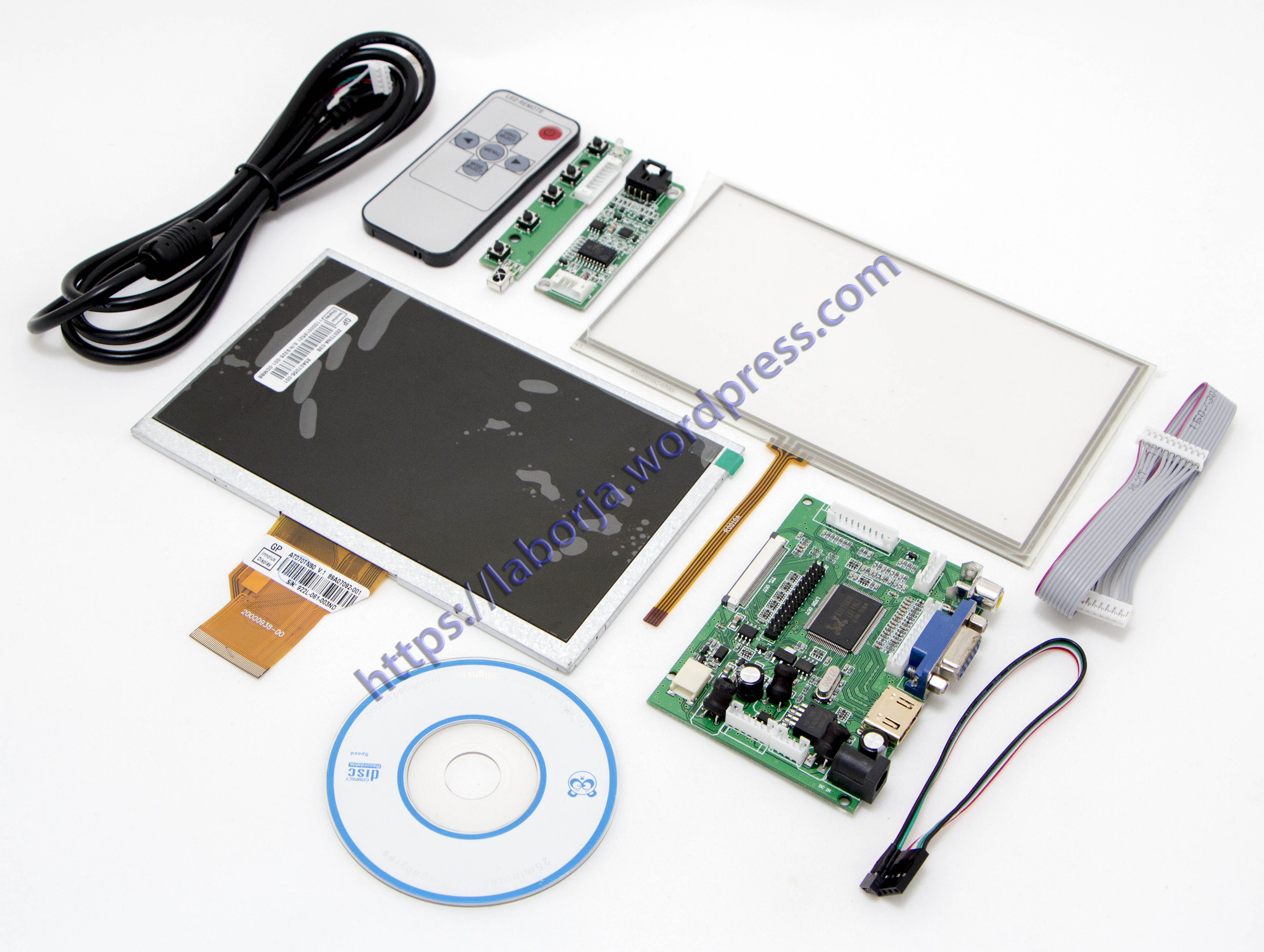 7 Raspberry Pi Lcd Touch Screen Display With Kit Hdmi Vga