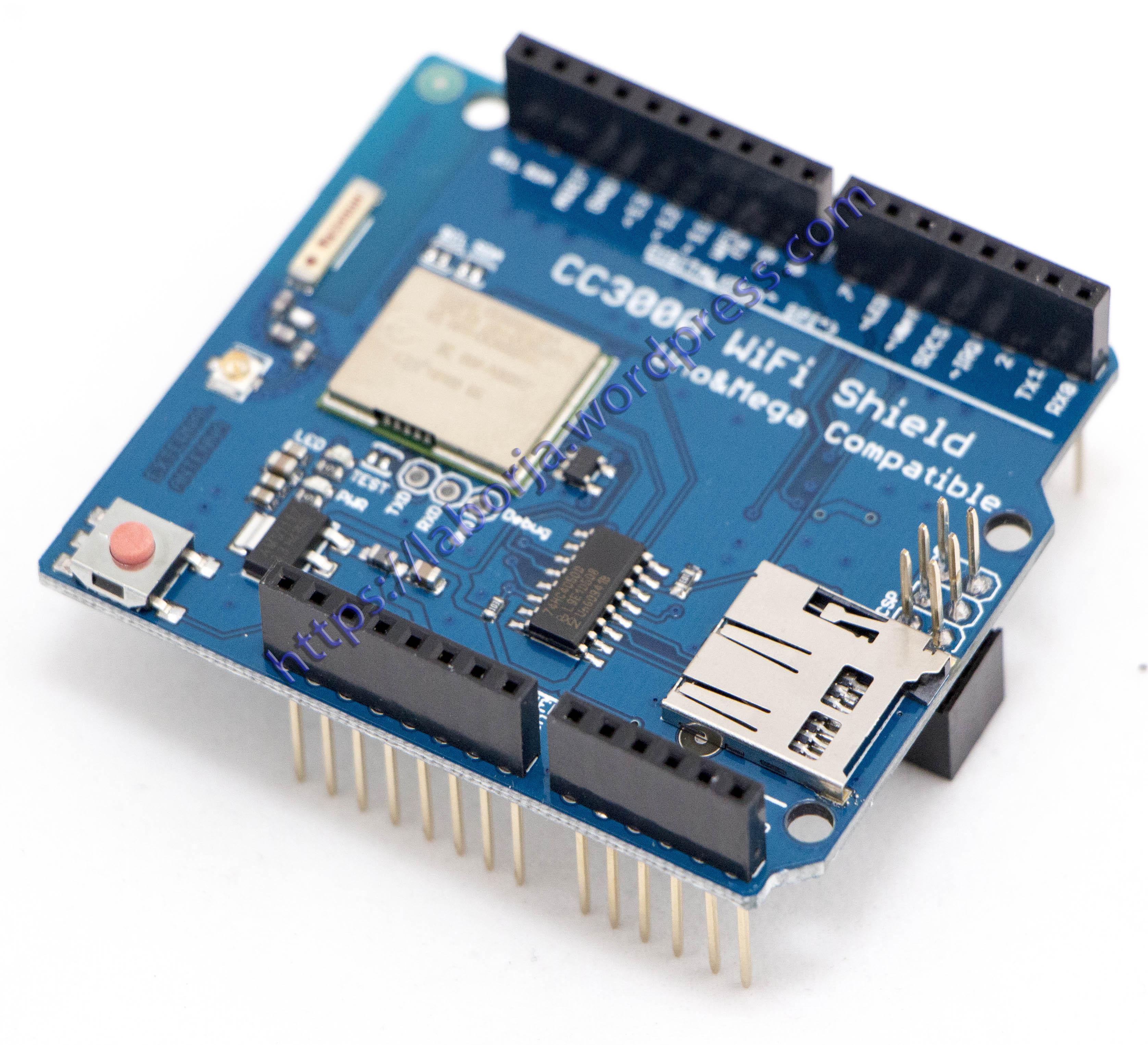 cc3000 wifi shield borja home page rh laborjag com CC3000 Arduino Wireless Charging
