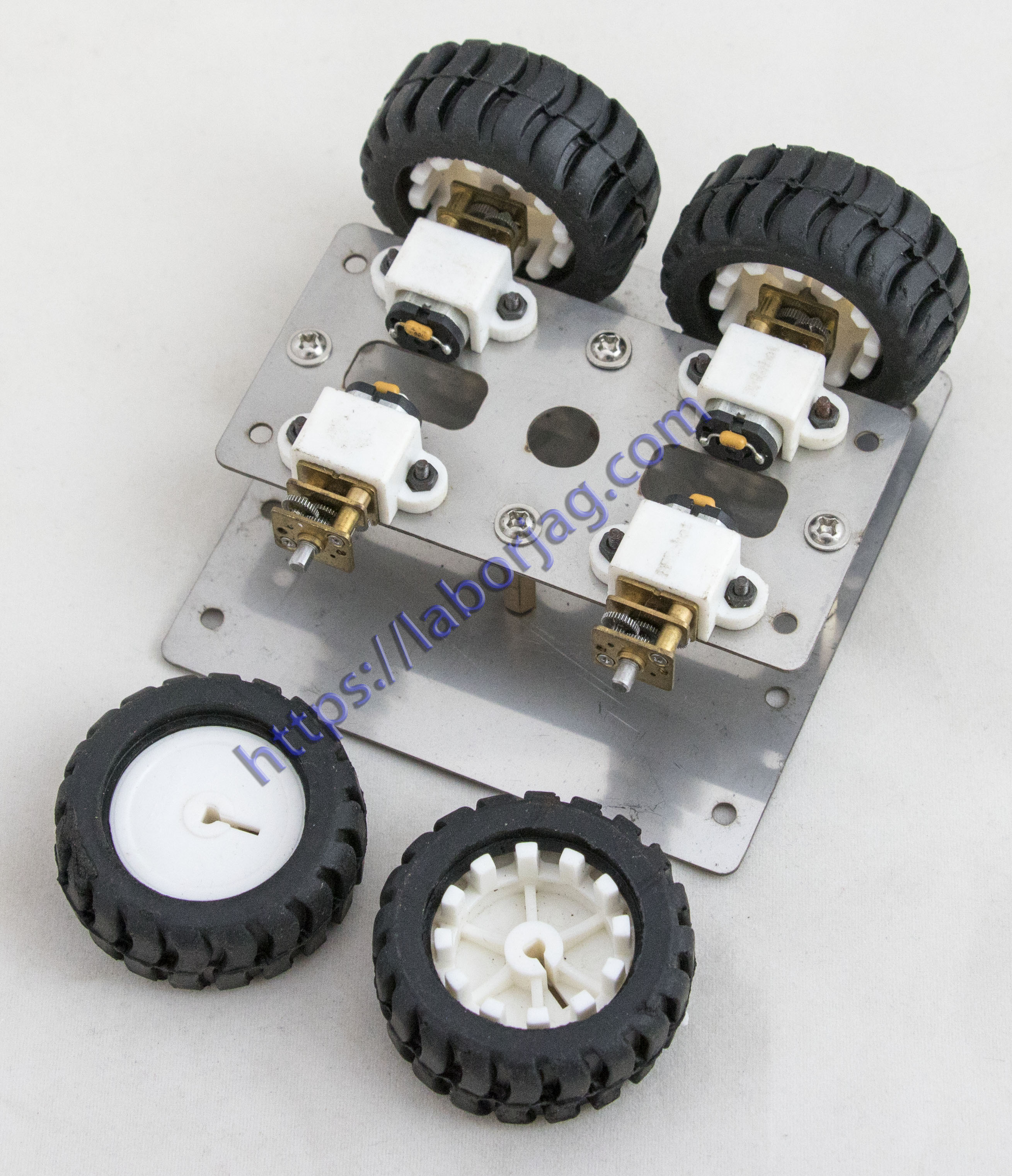 Smart Robot Car Metal Chassis 4WD N20 Gear Motor | Borja