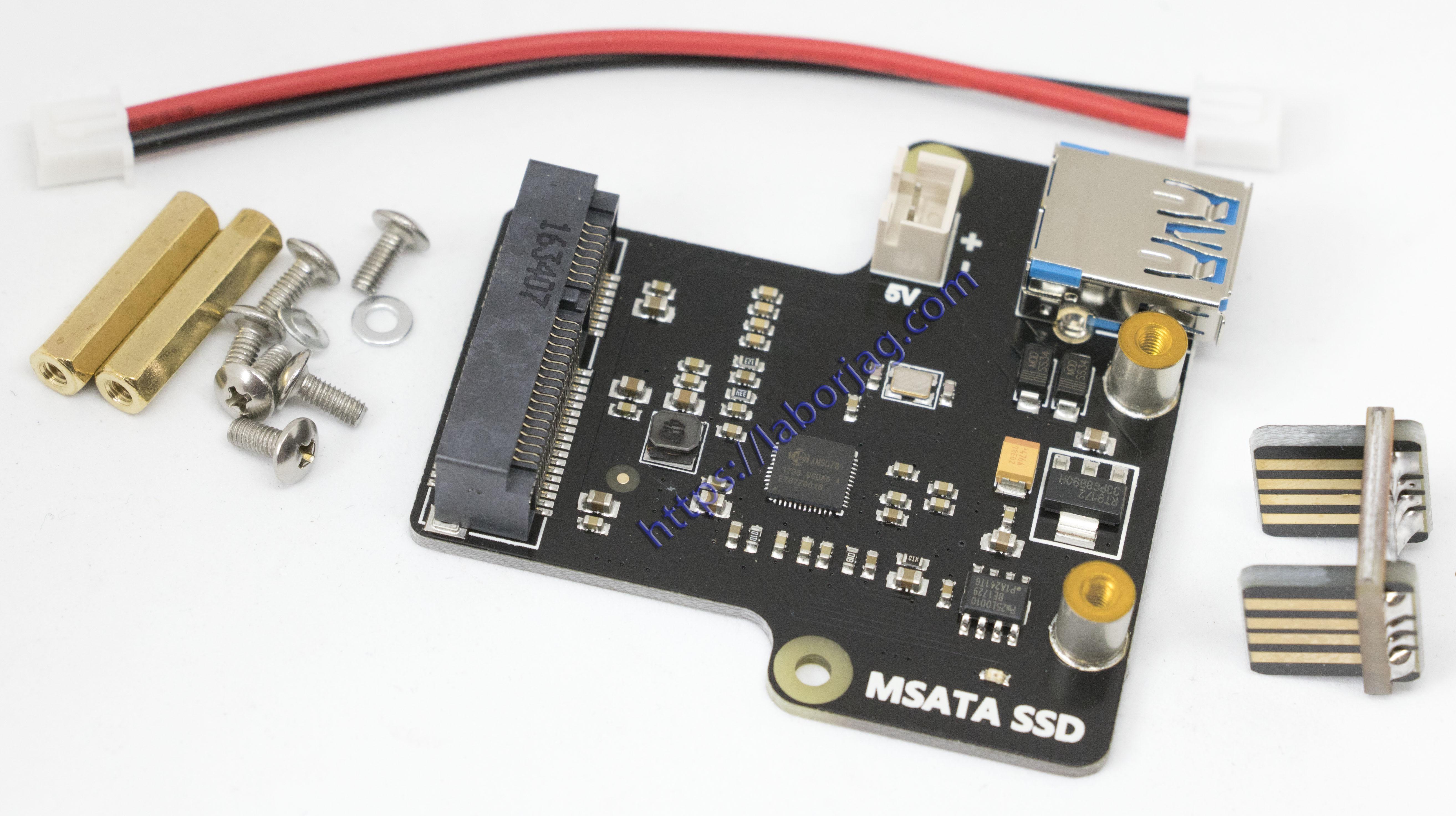 mSATA SSD Storage Expansion Board X850   Borja Home Page